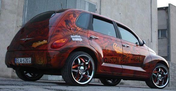 Aerografia - graffiti na samochodzie