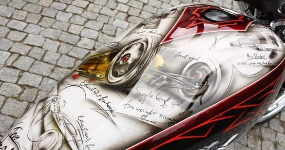 Aerografia - graffiti na motocyklu