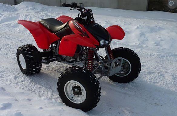 Honda TRX 400 - test zimowy