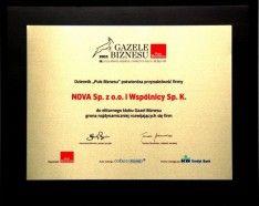 Gazele biznesu 2011 dyplom